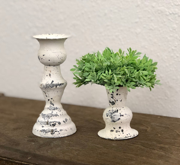 Small Alette Cream Candle Holder