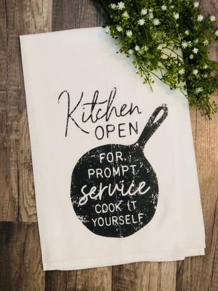 Kitchen Open Dish Towel