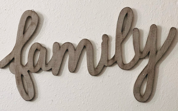 Family Word Wall Art