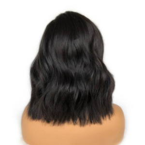 Glueless Pre-Made Fake Scalp Short Body Wavy Bob Lace Front wig