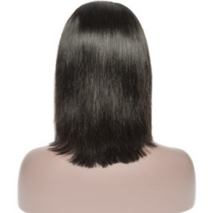 Virgin Hair Lace Front Natural Black Straight