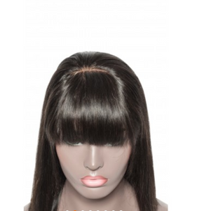 "10""-14"" 13x6 Straight Short Lace Front Bob Wig With Bangs"