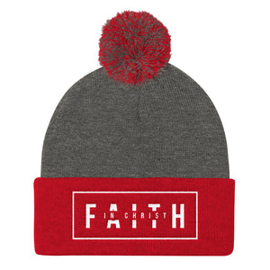 Faith In Christ - Pom Pom Knit Cap