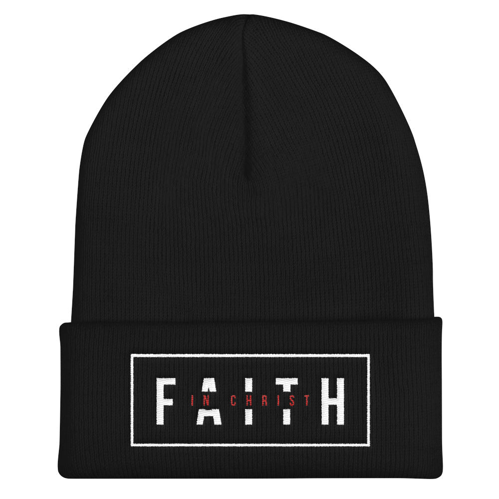 Faith In Christ Cuffed Beanie