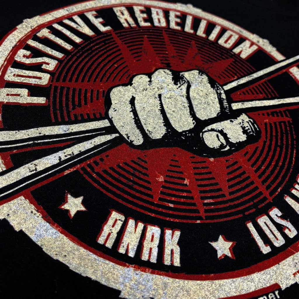 rnrk-la,Positive Rebellion Drummer's Edition,T-Shirt.