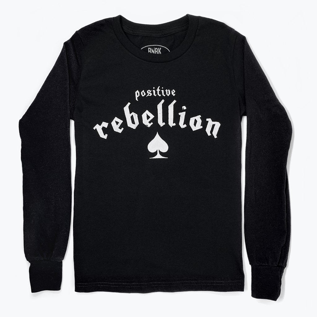 rnrk-la,Positive Rebellion Long Sleeve,T-Shirt.