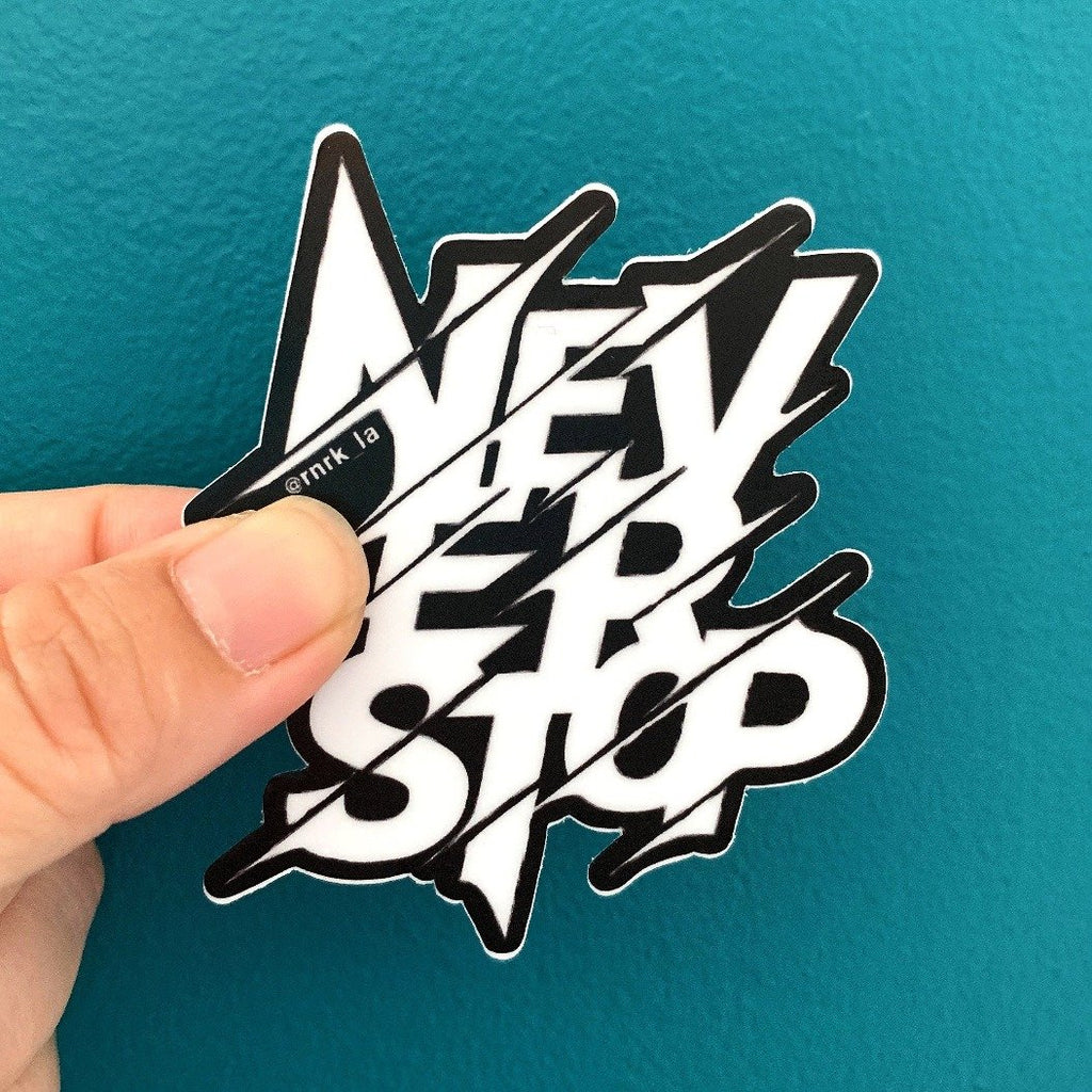 rnrk-la,NeverStop Die-cut Sticker,Stickers.