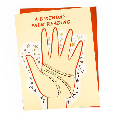 Palm Reading Birthday Card (Gold Foil)
