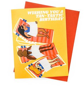 Tan-tastic Birthday Card