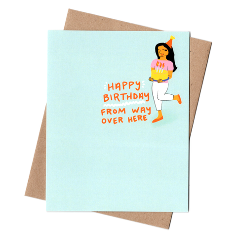 From Over Here Birthday Card