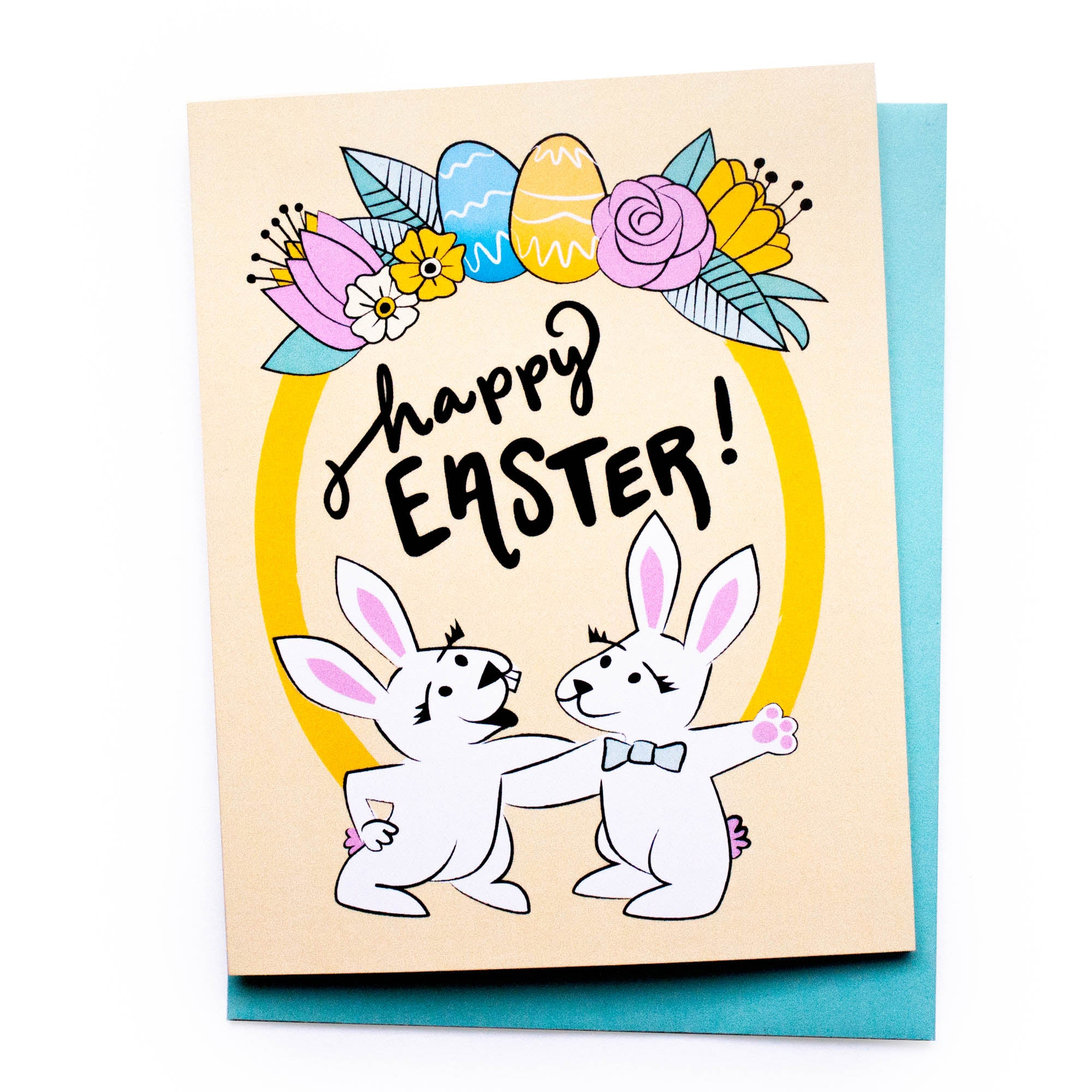 Bunny Wreath Easter Card