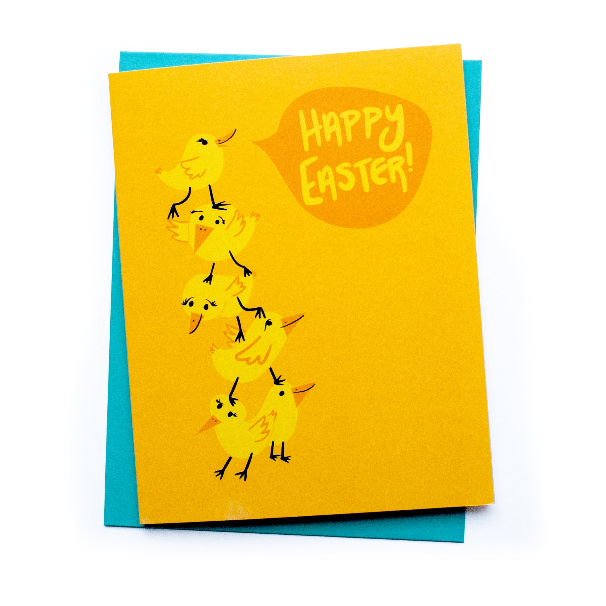 Chicks Easter Card Card