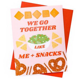 Me + Snacks Love Card