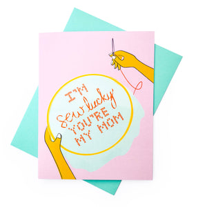 Sew Lucky Mother's Day Card