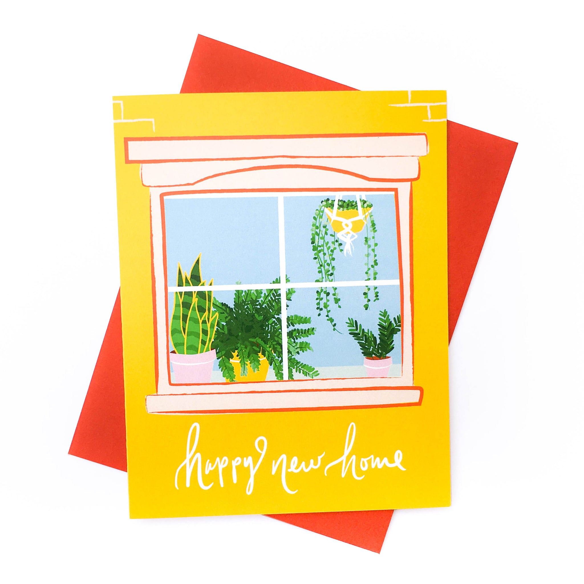 Happy New Home Plant Card