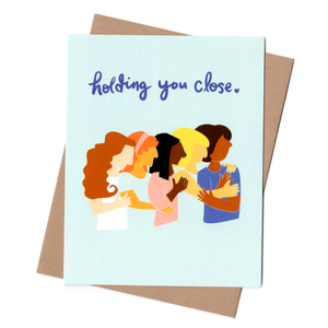 Holding You Close Sympathy Card