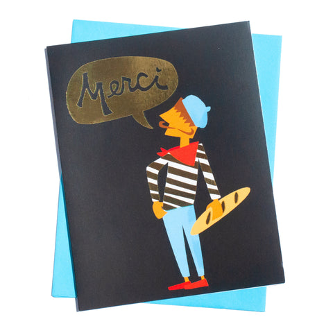 Merci Thank You Card (Gold Foil)