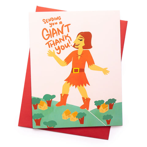 Giant Thanks Thank You Card