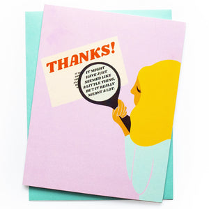 Little Thing Thank You Card