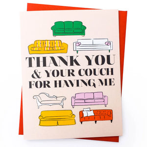 Couch Host Thank You Card