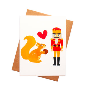 Nutcracker Holiday Love Card