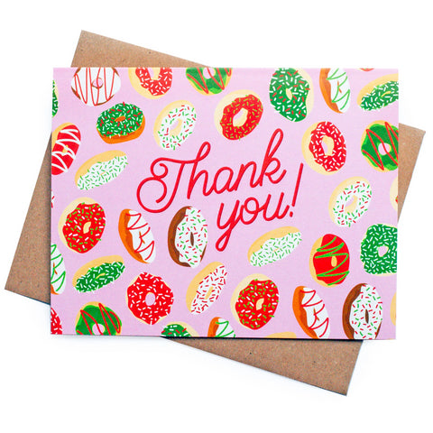 Christmas Donut Thank You Card