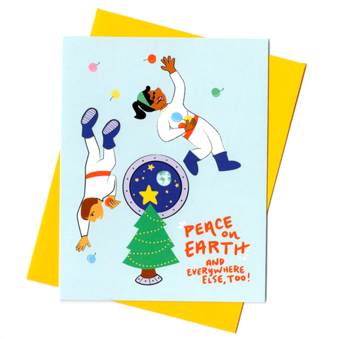 Outer Space Holiday Card