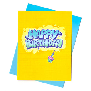 Graffiti Birthday Card