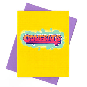 Graffiti Congrats Card
