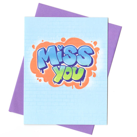 Graffiti Miss You Card