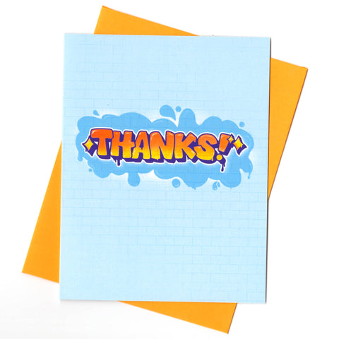 Graffiti Thank You Card