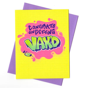 Graffiti Getting Vaccinated Card