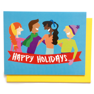 Holiday Pals Card || holiday card, christmas card, xmas card, merry christmas, happy holidays, cute christmas card