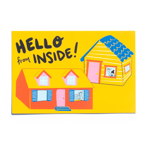 Hello from Inside! (house) • 5 postcard set