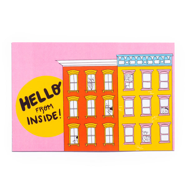Hello from Inside! (apartment) • 5 postcard set