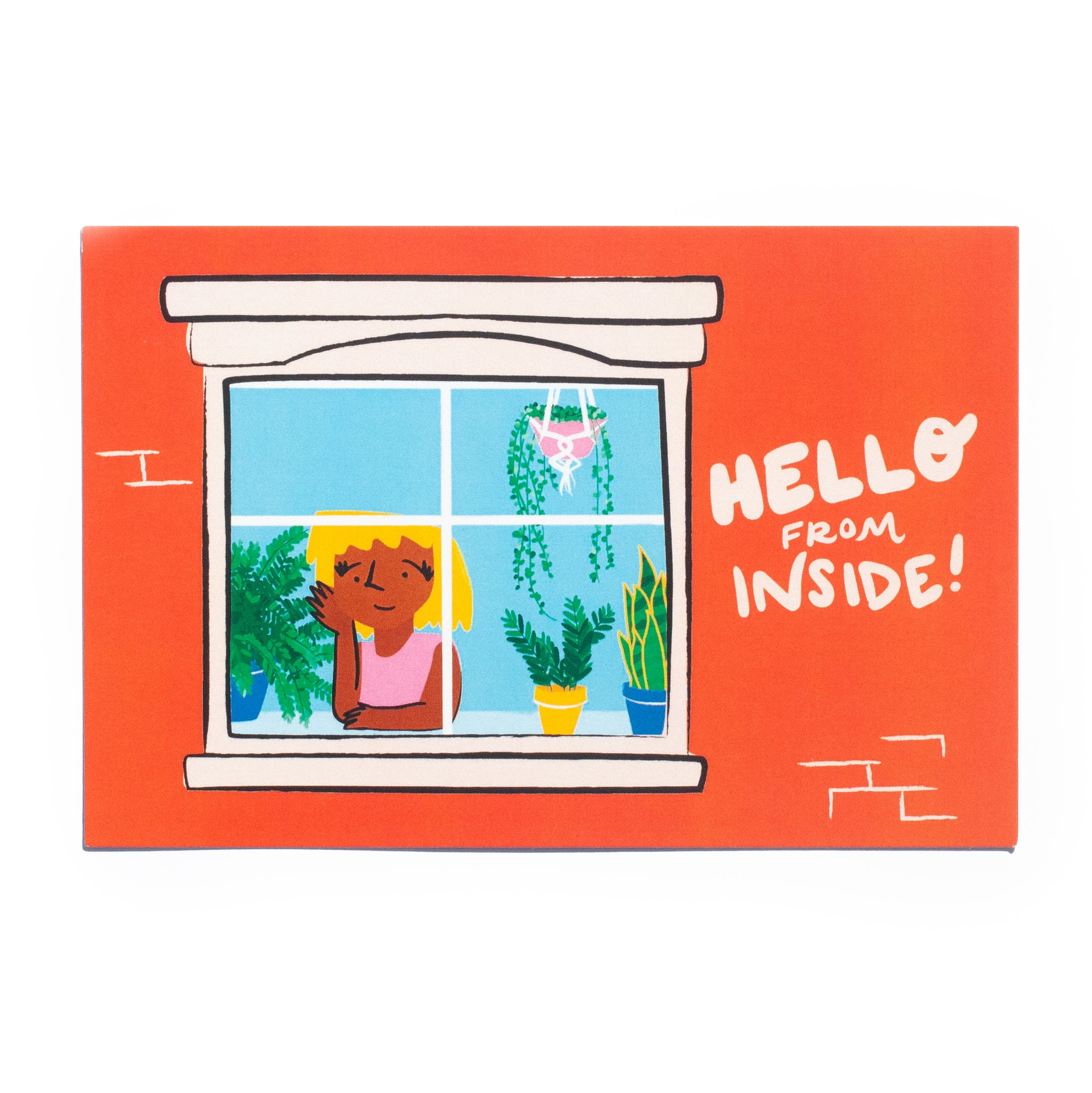 Hello from Inside! (window) • 5 postcard set