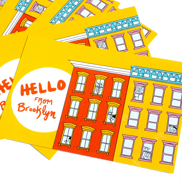 Hello from Brooklyn! • 5 postcard set
