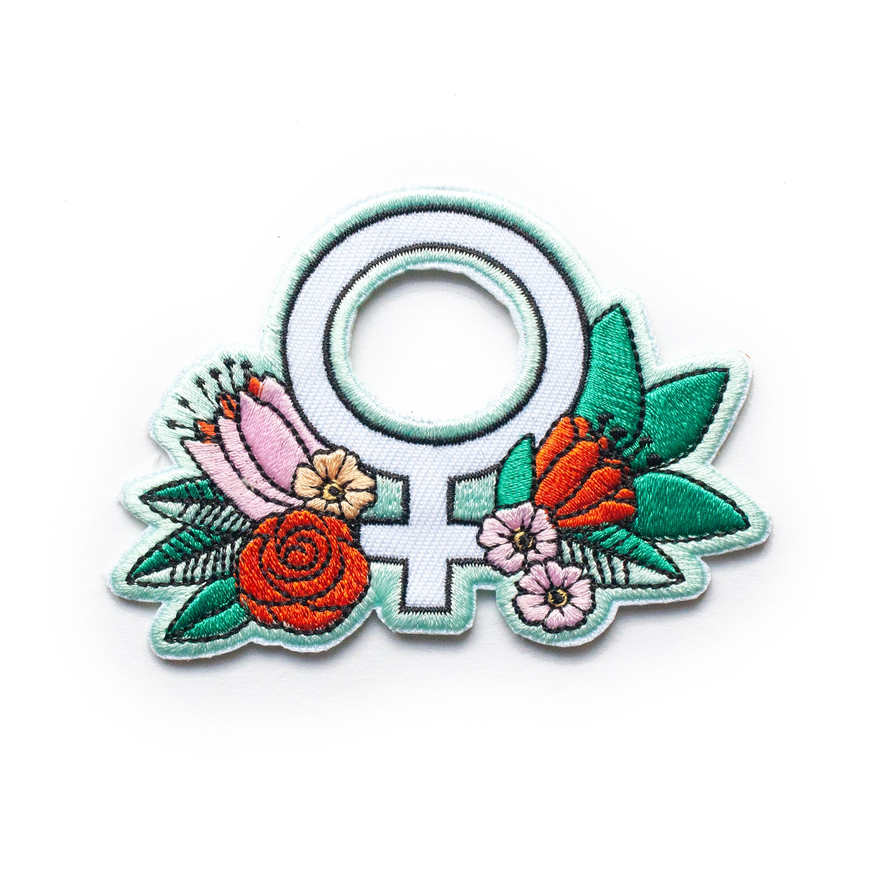 Feminist Flower Iron-On Patch