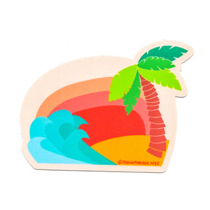 Beach Vaca Sticker