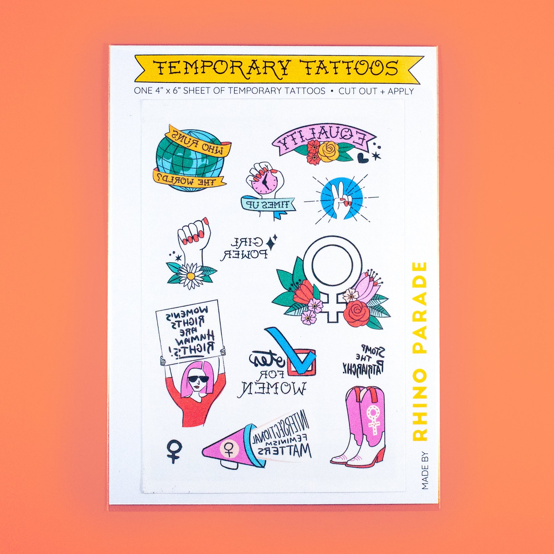 Feminist Temporary Tattoo Sheet