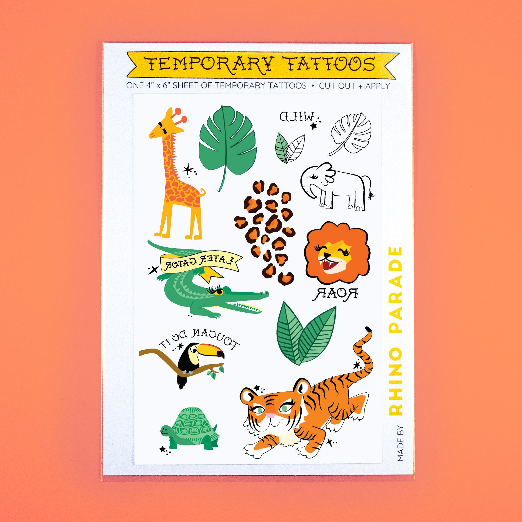 Wild Temporary Tattoo Sheet