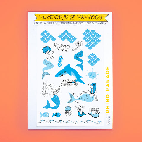 Under The Sea Temporary Tattoo Sheet