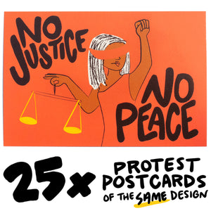 25x No Justice/No Peace Protest Postcard