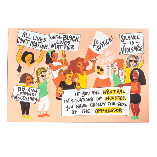 25x  BLM Rally Protest Postcard