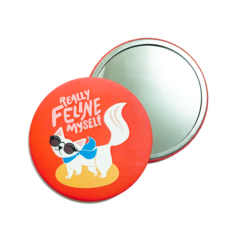 Feline Myself Pocket Mirror