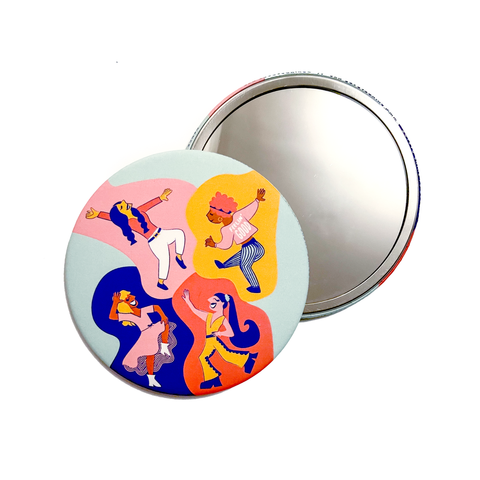 Dancing Girls Pocket Mirror
