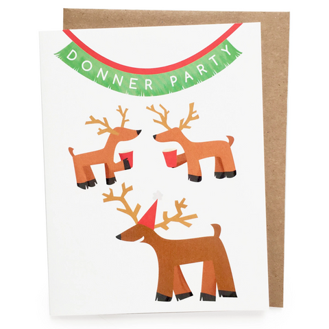 Donner Party Christmas Card || holiday card, christmas card, xmas card, merry christmas, happy holidays, funny holiday card