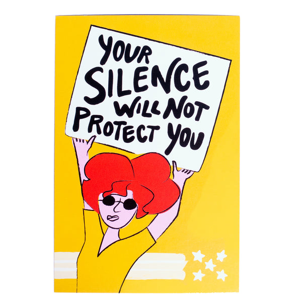 "25x ""Your Silence"" Protest Postcard"