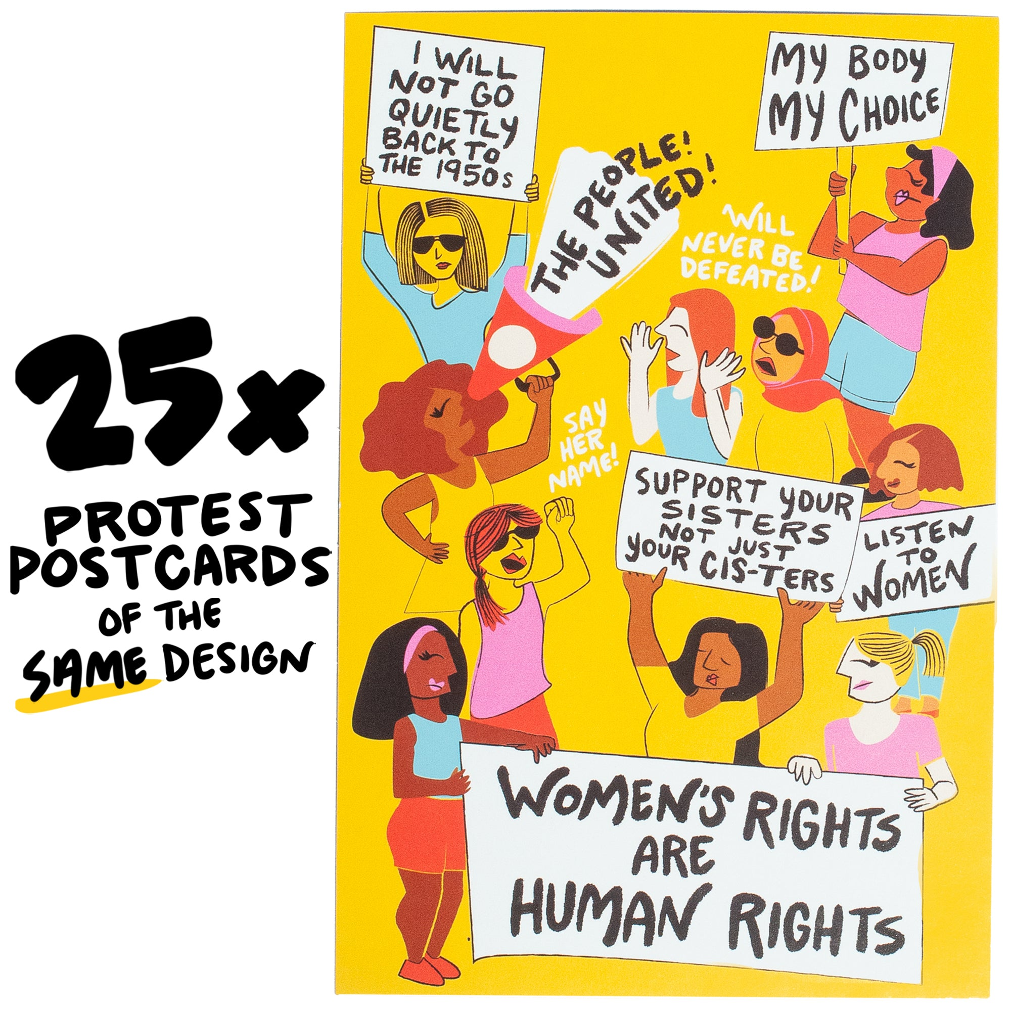 25x Ladies Rally Protest Postcard