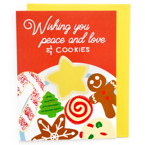Peace Love and Christmas Cookies Card